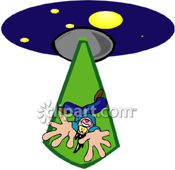 UFO Beaming a Guy Up Into Their Spacecraft