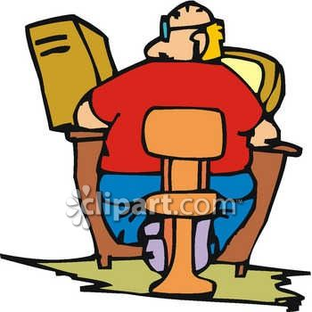 fat man sitting at a computer royalty free clip art image rh clipartguide com short fat guy clipart short fat guy clipart