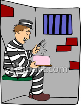 Prisoner with a Cake that has a File Inside