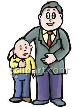 Daddy With Son Clipart