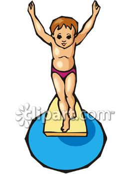 Kid Jumping off a Diving Board