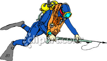 Scuba Diver with a Harpoon