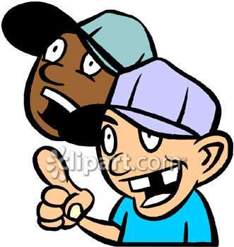 Young Sports Fans Clip Art