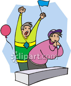 Sports Fans Cheering Clipart