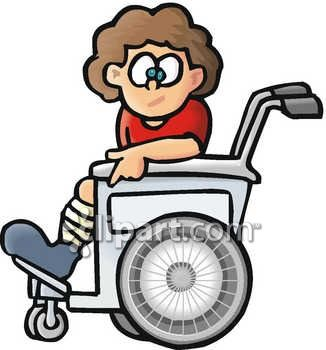 Child in a Wheelchair Clip Art
