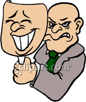 Two Faced Man Clip Art