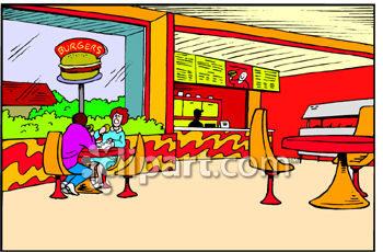 Fast Food Restaurant Dining Area