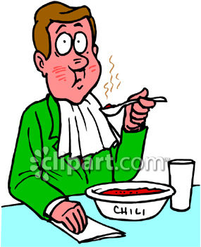 Man Eating Hot and Spicy Chili Clipart - Royalty Free Clip Art Image