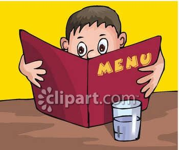 Kid Reading a Menu