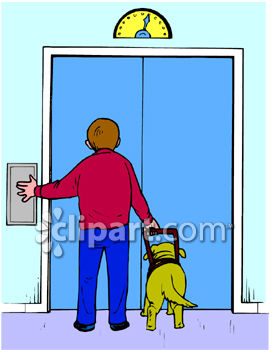 people in elevator clipart. blind boy and his seeing eye dog waiting for an elevator clipart - royalty free clip art image people in