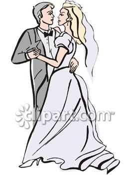 Bride and Groom's First Dance Clip Art