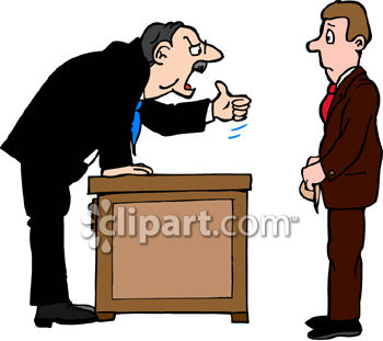 Man Being Fired by the Boss Clip Art