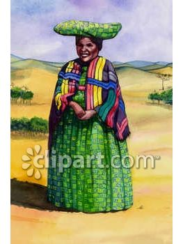 Mexican Indian Woman Clip Art