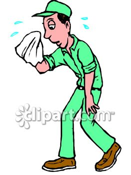 royalty free clip art image tired sweating handyman rh clipartguide com