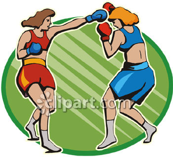 Female Boxers Fighting