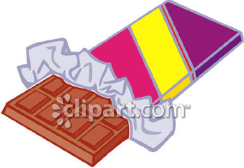 Partially Unwrapped Chocolate Candy Bar