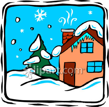 A House Covered In Snow Royalty Free Clipart Image Image Number: 3805615