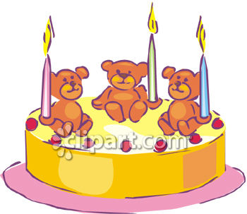 A Birthday Cake Decorated With Bears