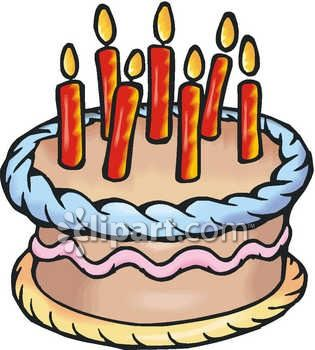 Royalty Free Clipart Image A Birthday Cake With Candles On Top