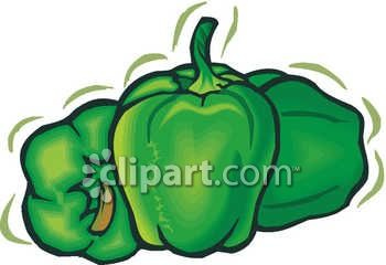 A Bunch Of Green Bell Peppers
