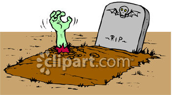 Zombie Hand Sticking Out Of Grave