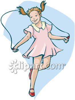 A Little Girl Jumping Rope