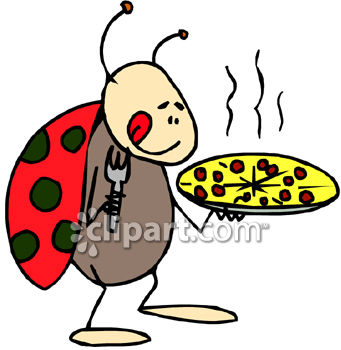 royalty free clip art image a ladybug holding a pizza rh clipartguide com pizza chef clipart free pizza clipart free download