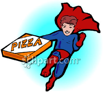 A Superhero Carrying A Pizza Box