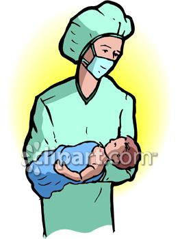 doctor holding a newborn baby royalty free clipart picture rh clipartguide com new baby clipart free new year's baby clipart