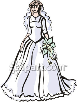 bride in a beautiful wedding gown royalty free clip art picture rh clipartguide com bride clipart free download bridal clip art free