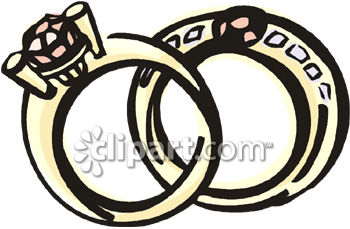 Gold And Diamond Wedding Ring Set