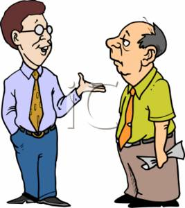 Clipart of Two Businessmen Talking