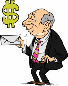 Businessman with a Envelope - Money Symbol