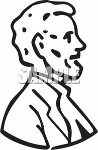 clipart of outlined abraham lincoln rh clipartguide com lincoln memorial clip art lincoln's birthday clip art