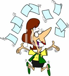 clipart of a excited businesswoman throwing paperwork in the air rh clipartguide com signing paperwork clipart paperwork clipart free