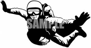 Clipart of a Skydiver