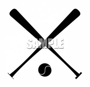 Two Baseball Bats and Ball