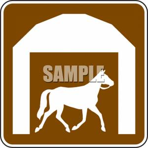 Horse Stables Road Sign