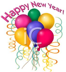 clipart of happy new year balloons