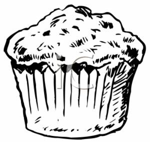 Clipart Picture of a Muffin
