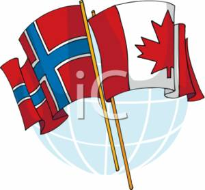 Norway and Canada Flags