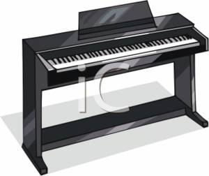 Clipart Picture of an Electric Keyboard
