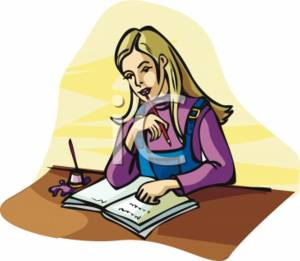 clipart picture of a blonde girl studying rh clipartguide com  boy and girl studying clipart