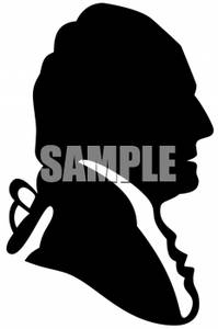 Black and White Silhouette of George Washington