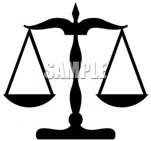 Silhouette of the Scales of Justice