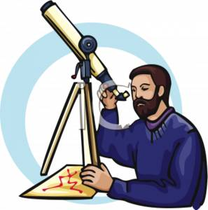 Astronomer With a Telescope and a Graph
