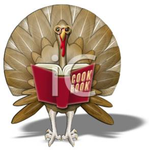 Turkey Reading a Cookbook