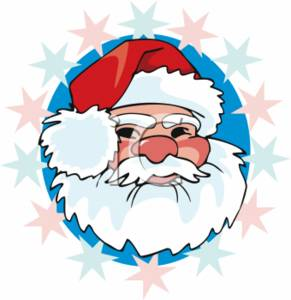 christmas clipart picture of santa s face