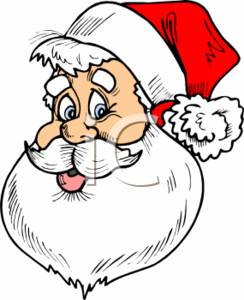 cartoon clipart image of santa claus s face