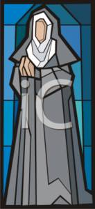 Nun In Stained Glass
